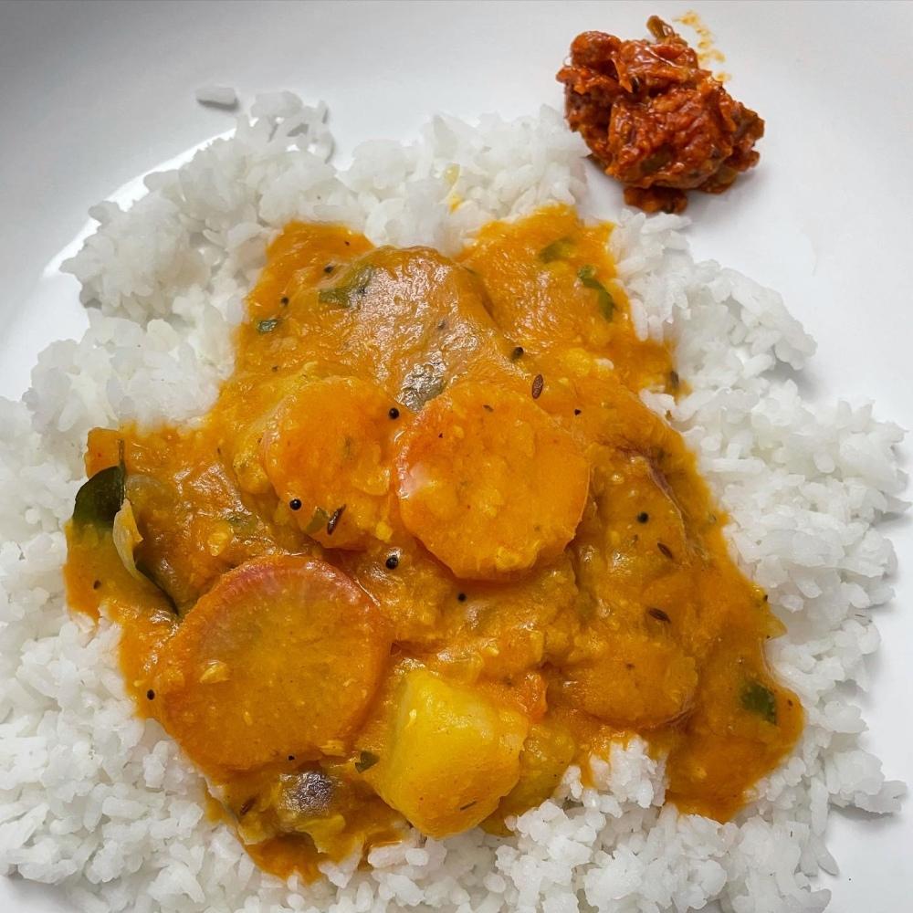 Rice and Radish Sambar