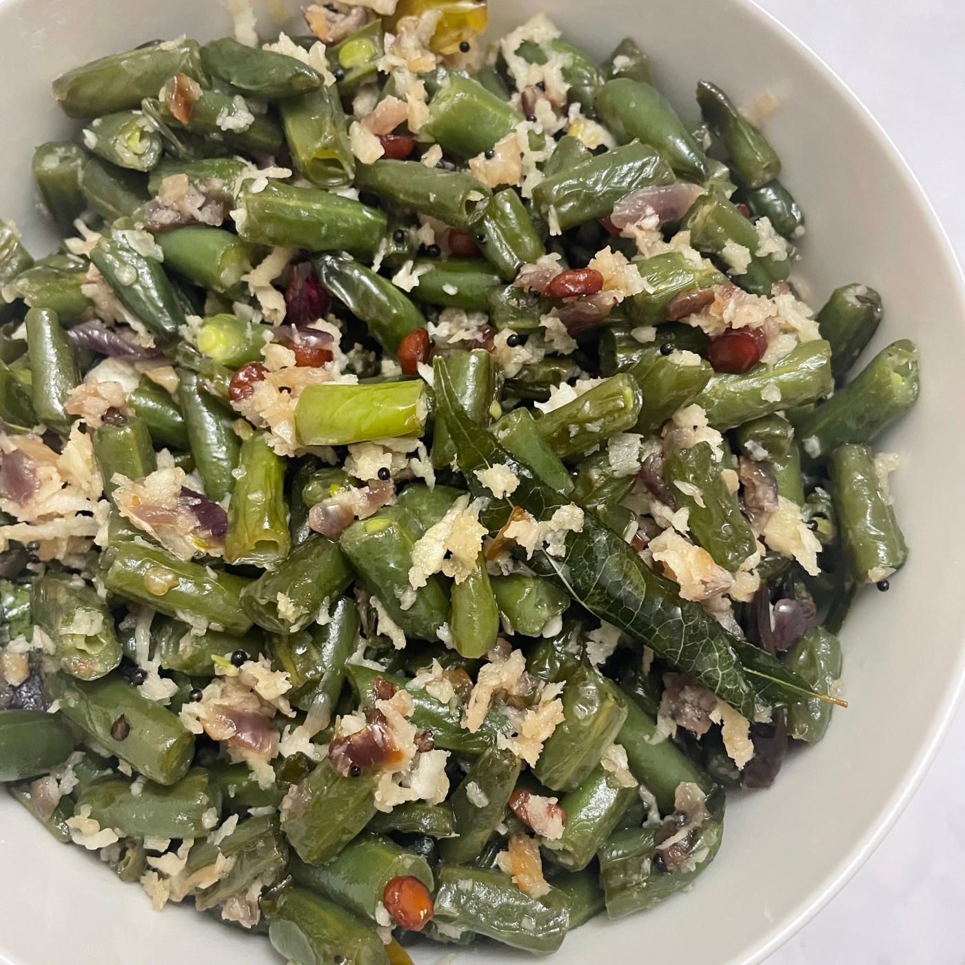 Green beans stir fry